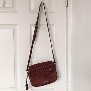 Etienne Aigner genuine leather crossbody bag